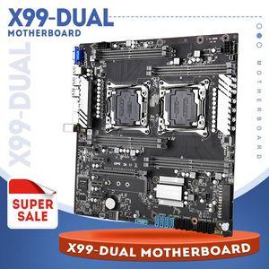 LGA 2011 V3 / V4 Dual Gigabit Ethernet VGA Placa Placa Dual Socket X99 Motherboards USB3.0,10 * SATA3.0, NVME M.2, 8 * DDR4 até 256GB
