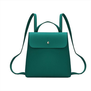 womens backpack NEW Fshion Women Girl Pure Color Leather Mini School Bag Backpack Shoulder Bag drop shipping O0611 30