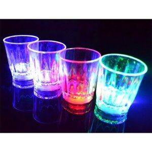 LED Flashing Glowing Water Liquid Activated Light-up Wine Beer Glass Mug Luminous Bar Drink Cup Christmas Party Decoration