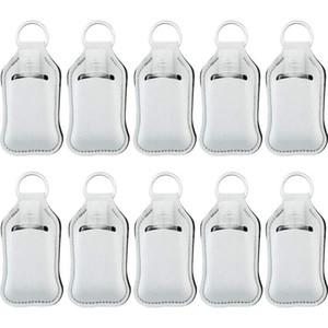 Sublimation Blank Printing Colors Neoprene Liquid Soap Bottle Holder 30ml Hand Sanitizer Bottle Holder Keychain
