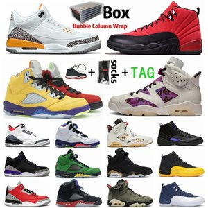 new air jordan 3 UNC 3 3s Lo Los 5 5s Quai jordan 6 6s oscuro Concord 12 12s zapatos de baloncesto del Mens Shoe Jumpman Tinker Oregon Playoff Deportes