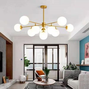 Nordic modern minimalist led chandelier lighting magic bean restaurant lamp creative personality atmosphere post-modern living room lamps