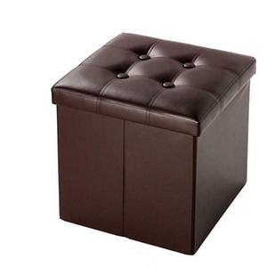 Tabouret de repos cube carré en simili cuir pliable en similicuir