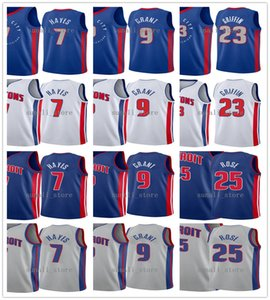 2020-21 Şehir Mavi Blake 23 Griffin Killian 7 Hayes Derrick 25 Rose Jerami 9 Hibe Formalar Basketbol Baskı Beyaz Gri Kırmızı