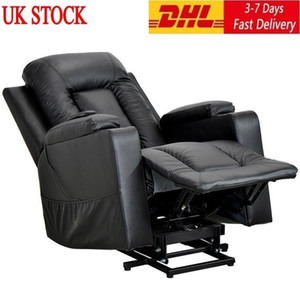 UK STOCK New Remote Control Electric Power Lift Recliner Chair Sofa for Elderly With 3 Positions Side Pockets and 2 Cup Holders PP193509AAA