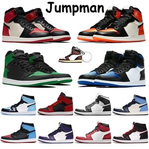 1s Basketball Top Quality Mens Jumpman Shoes High Recerse Bred Royal Toe Pine Green Black White Shattered Backboard Banned Men Traine