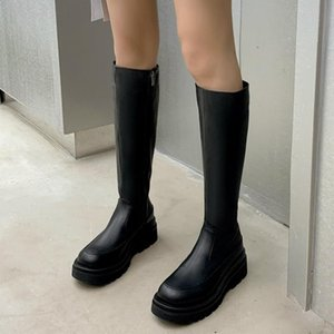 Women's Knee High Boots Shoes Platform New Fashion Punk Heeled Winter Long Boots Shoes Woman Sexy Party Footwear ZOGEER