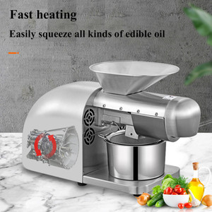 Automatic intelligent stainless steel oil press, small household oil press, flaxseed olive oil peanut coconut kernel extractor