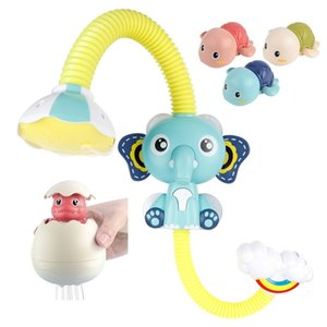Baby Bath Toy Elephant Spray Toddler Electric Shower Boys Swimming Water Toys Yellow Duck Cute Turtles Dinosaur Egg for Kids 201014