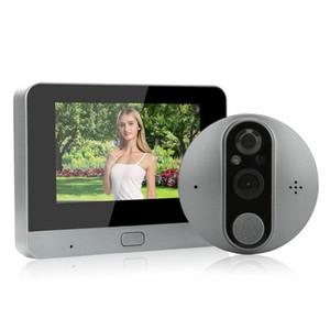 4.3 polegadas 720p HD Smart WiFi Doorbell Camera Peephole 4.3in 720P HD Smart WiFi Door Viewer 2-Way Intercom Night Vision Doorbell