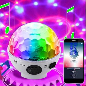 USB LED Bluetooth Speaker Light MP3 Player Magic Ball Light Professional Audio Stage Light LaSound control rotatiser Stage Light