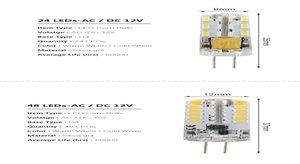 G4 Led Bulb Lamp 3w 4w 5w 6w 9w 12w Smd 3014 Dc 12v Ac 220v 110v White Warm White Light Replace Swy sqcsNP sports2010
