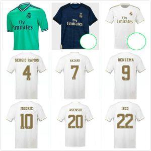 2016 2017 2018 2019 Real Madrid футбол для футбола 19/20 # 7 Опасность # 4 Серхио Рамос # 9 Benzema 2020 Kroos Isco Asensio Bale Футбольные рубашки