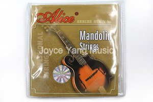 Alice Am04 Mandolin Strings Plated Steel &Coated Copper Wound Strings 1st -4th 010 -034 Free Shipping Wholesales