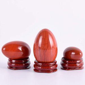 Natürliches Ei Kegal Jade Mineral und Retroilled Yoni Massage Eier 100% Holzbasis Kristall Ball Übung für Frauen Rot Set Ndfru