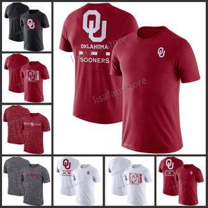 Mens Oklahoma Sooners Team Issue-Leistungs-T-Shirt GFX Geschwindigkeit Sideline Legend Performance Tee Sleeves College-Pullover-T-Shirts
