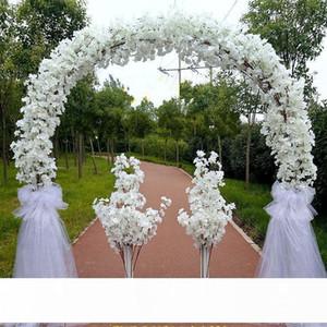 Luxus-Hochzeits-Mittelstücke Metall-Hochzeits-Bogen-Tür-Hängende Girlande Blumenständer mit Kirschblüten für Hochzeitsunterstützung Requisiten