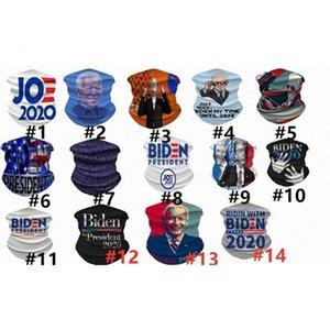 3d digitale Biden Sciarpa Presidente Stampato 2020 Donna Uomo Casual Mask Outdoor Ciclismo Equitazione collo magico Turbante adulti Maschere GWD2900