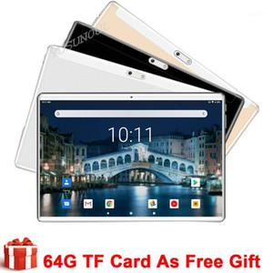 태블릿 PC Fast Divery Super Glass 10 인치 3G Android 9.0 쿼드 코어 2.5D 강화 WiFi 1280 * 800 IPS 듀얼 SIM 카드 GPS 태블릿 1