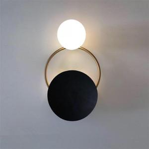 Modern Bedside LED Wall Lamp Art Brass Foyer Background Restaurant Aisle Wall Sconce Lighting bedroom light