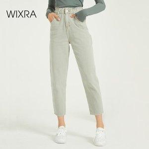 Wixra повседневные женские Femme BF Джинсовые брюки высокой талии Карманы Брюки летние женские джинсы Streetwear 201015