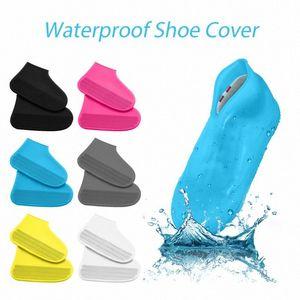 1 par reutilizável impermeável antiderrapantes silicone chuva Covers sapatos Elasticidade Galocha Bota Overshoes Para Outdoor Camping Viajar cJ96 #