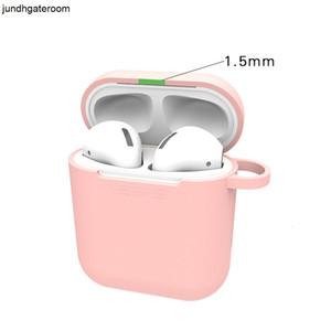 Protección para estuche blandas Skin Silicone Air Air Ultrathin PODS Protector a prueba de golpes Anti-perdido Función Polvo a prueba de polvo PO