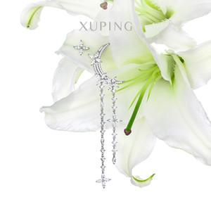 Xuping Jewelry Fashion Light Luxury Artificial Zircon Star Placcato Moon Orecchini in oro femminile S00072566