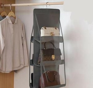 6 Pocket Folding Hanging Large Clear Handbag Purse Storage Holder Anti-dust Organizer bbyYht xmhyard