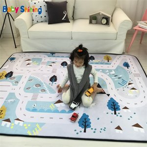 Baby Shining Mat 1.5CM(0.6in) Thickness Children Play Mat Velvet Carpet 150*200CM(60*78.7in) Baby Crawling Mat Non-slip LJ200818