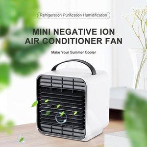 مراوح سيارة مصغرة أنيون تكييف الهواء مروحة سطح برودة التبريد المحمولة مكيف بارد تبريد الصيف لغرفة النوم home1