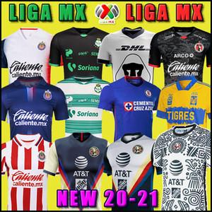 20 21 Club America Cruz Azul Soccer Jersey 2020 Guadalajara Chivas Tijuana Unam Tigres Home Away Third Liga MX كرة القدم قمصان Santos Laguna