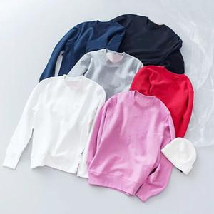 2020 Crewneck Logo Sweat-shirt Décontracté Hommes Femmes Pull Couple Couple Street Pull Top Qualité 12 couleurs