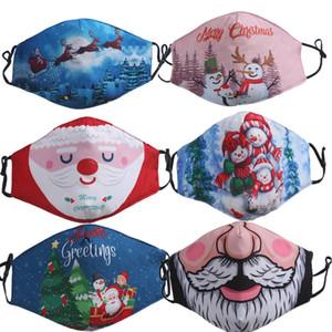 Designer Gesichtsmaske Christmas Santa Snowman fahion Gesichtsmasken für Erwachsene 3D-Druck Staubdichtes Weiß Rot boyrs Mädchen facemask