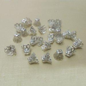 Tassels Perles Fin Casquettes End Spacer Connecteur Pearl Connecteur Fleur Filigree Création de boucles d'oreilles Collier Collier Bricolage Accessoires