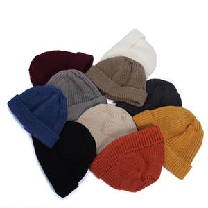 Breve cupola a maglia Cappello a maglia Studente Studente Studente Autunno Cappelli di lana invernale Melone Skin Sailor Yuppie Berchi