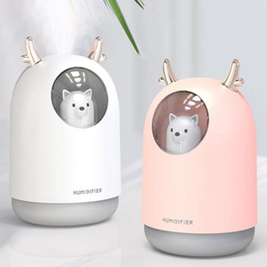 300ML Cute Pet Ultrasonic Air Humidifier Aroma Essential Oil Diffuser for Home Car USB Fogger Mist Maker with LED Night Lamp
