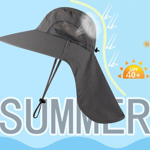 Sun Hat Wide-Brimmed Cap Durable Comfortable Breathable Summer Outdoor Sports Camping Riding Climbing Equipments Anti-UV Hat