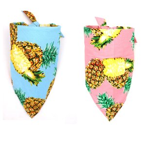 Scarf for Dog Cat Pets Supplies Pineapple Design Cotton Apparel Christmas New Year Dress Halloween Doggy Scarves Bandanas Bows & Accessories