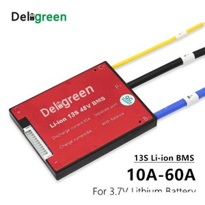 Pièces Batterie ccessoires Chargeur ccessoires 3.7V 13S BMS 15 20 40A 50A60A PCM 30A / PCB / BMS pour 48V 18650 LiNCM Li