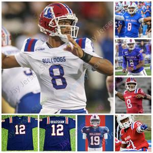 2020 Özel Louisiana Tech Bulldoglar Futbol Jersey NCAA Kolej Terry Bradshaw J'Mar Smith Justin Henderson Malik Stanley Ka'Derrion Mason