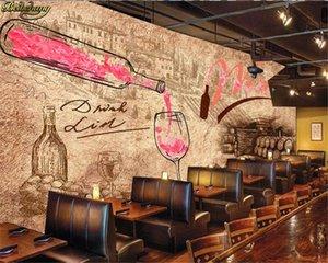 beibehang papel de Parede Özel duvar kağıdı duvar bağbozumu şarap mahzeni şarap mahzeni çubuğu otel arka plan duvar kağıdı 3d