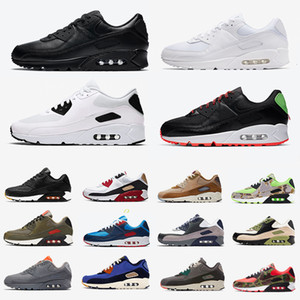 Premium SE Red 90 Mens Running Shoes Medium Olive Lahar Escape Game Royal Camowabb 90s Neon Accents uomo donna sport sneakers
