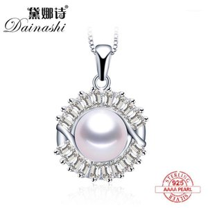 Lockets 2021 100% Natural Freshwater Pearl Fashion Shiny Zircon Pendants 925 Sterling Silver Elegant Necklace Fine Jewelry For Women1