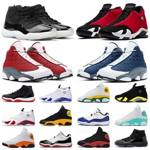 air jordan retro 11s 13s 14s Basketball JUMPMAN 25th Anniversary 11s Sportschuhe 2020 New Flint 13s Spielplatz Low Bred Gym Red 14s Soar Green Concord Frauen Männer Trainer