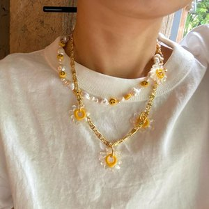 Glam Daisy Floral Smiling Real Baroque Pearl Choker Statement Necklace Designer T Show Runway Gown Wedding Jewelry Rare