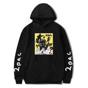남성용 후드 스웨터 2Pac Shakur Rock Singer 남성 / 여성 3D 인쇄 긴 소매 패션 캐주얼 드롭 자켓 코트 1