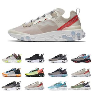 2019 React Element 87 Undercover Running Shoes For Men Women Royal Tint Total Orange Breathable Mens Trainers Lightweight Sports Snea