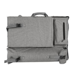 Grande mochila cinza bolsa de arte para desenho placa de pintura de pintura esboço de viagem saco para esboçar ferramentas de pintura de lona do artista su