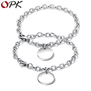 OPK Couple bracelet bangle Stainless steel Sweet O font Bracelet Link Chain For Couple Gift Health Jewelry